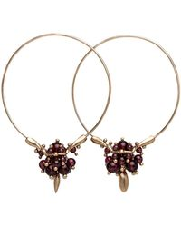 Ted Muehling - Garnet Hoop Cluster Earrings - Lyst