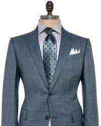 Ermenegildo Zegna - Blue Grey Melange Suit 50r Itl - Lyst