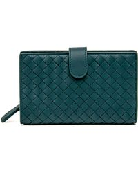 b0dd182ad2 Vivienne Westwood Vernice 51040001 Long Purse Petrol in Green - Lyst
