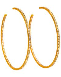 Yossi Harari - Lilah Pave White Diamond Hoop Earrings - Lyst