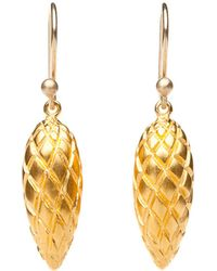 Ted Muehling - Gold Pine Cone Earrings - Lyst