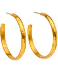 Yossi Harari - Mica Gold Hoop Earrings - Lyst