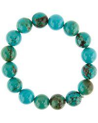 Nest - Jasper Turquoise Beaded Stretch Bracelet - Lyst