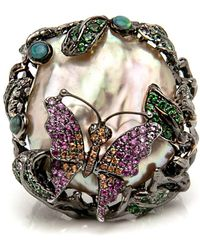 Wendy Yue - Butterfly Large Pearl Ring - Lyst