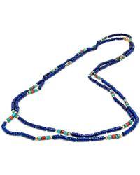 Darlene De Sedle | Small Lapis Heishi Necklace | Lyst
