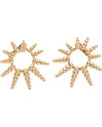 Nikos Koulis - Gold Starburst Earrings - Lyst