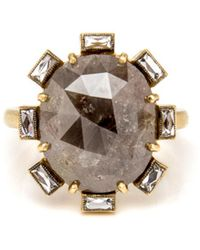 Sylva & Cie - Rough And French Cut Diamond Ring - Lyst