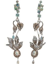 Wendy Yue - Opal With Diamonds With Drop Earrings - Lyst