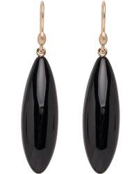Ted Muehling - Onyx Long Berry Earrings - Lyst