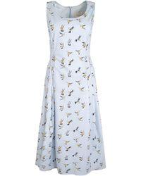 Hummingbird shirt dress - Blue Carolina Herrera gFNks