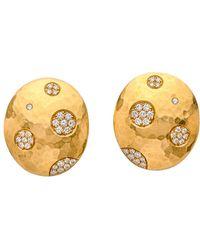 Darlene De Sedle - Oval Disc With Diamond Bubbles Earrings - Lyst
