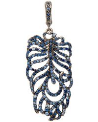 Loree Rodkin | Blue Sapphire Feather Pendant | Lyst