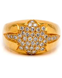 Darlene De Sedle - Gold Diamond Starburst Ring - Lyst