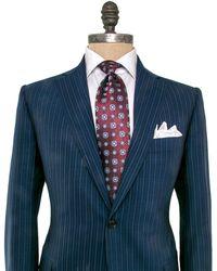Belvest - Navy Pinstripe Suit - Lyst