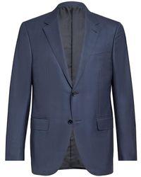 Ermenegildo Zegna - Black And Navy Check Suit 50r Itl - Lyst