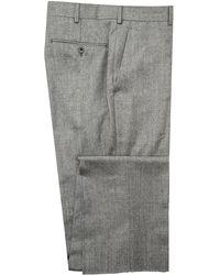 Belvest - Pearl Grey Flannel Dress Pant - Lyst