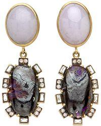 Sylva & Cie - Opal And Jade Earrings - Lyst