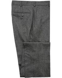 Belvest - Charcoal Flannel Dress Pant - Lyst