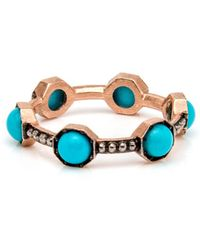Sylva & Cie - Turquoise Caviar Band Ring - Lyst