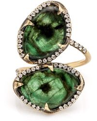 Sylva & Cie - Double Emerald Ring - Lyst