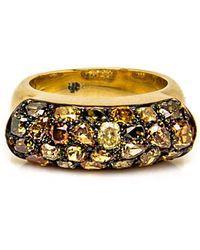 Sylva & Cie - Fancy Yellow Diamond Saddle Ring - Lyst