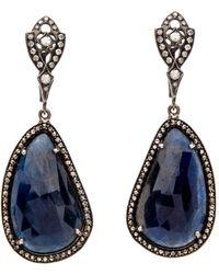 Loree Rodkin - Pear Shaped Sapphire Earrings - Lyst