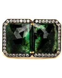 Sylva & Cie - Double Emerald Ring - Lyst
