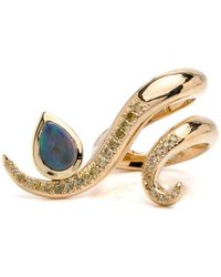 Ana Katarina | Blue Opal Serpentine Sleeps Swish Ring | Lyst