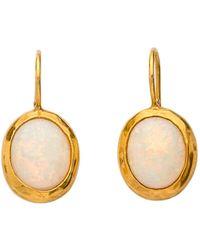 Darlene De Sedle - Large Oval Opal Earrings - Lyst