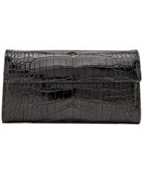 Tardini - Black Alligator Clutch - Lyst
