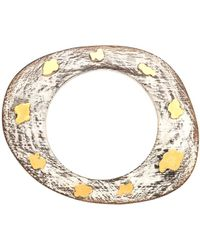 Devon Leigh - White Wood Bangle With Accents - Lyst
