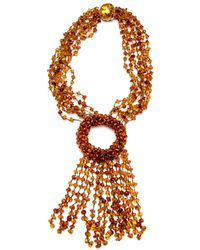 Silvia Furmanovich | Amber Beaded Fringe Necklace | Lyst