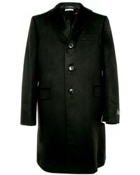 Belvest - Black Topcoat - Lyst