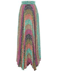 b70841b84f Alice + Olivia - Jasmine Katz Sunburst Pleated Maxi Skirt - Lyst