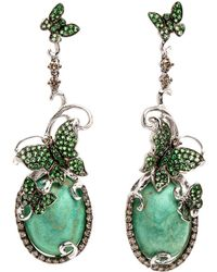 Wendy Yue - Green Turquoise Butterfly Earrings - Lyst