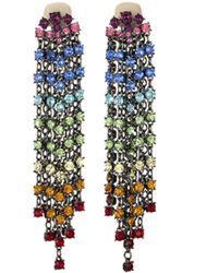 Oscar de la Renta - Rainbow Crystal Cascade Waterfall Earrings - Lyst