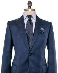 Belvest - Blue Herringbone Suit - Lyst
