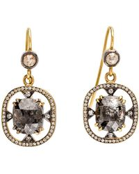Sylva & Cie - Rough Cut Diamond Earrings - Lyst