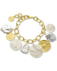 Nest - Shell And Coin Charm Bracelet - Lyst