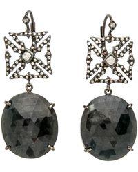 Loree Rodkin | Maltese Cross Drop Earrings | Lyst