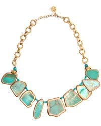Devon Leigh - Copper Infused Turquoise Slab Necklace - Lyst