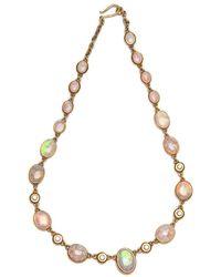 Darlene De Sedle - Cabochon Link Mintabie Crystal Opal Necklace - Lyst