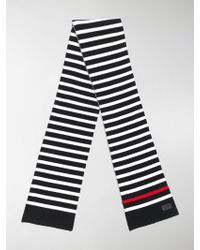 Saint Laurent | Striped Knitted Scarf | Lyst