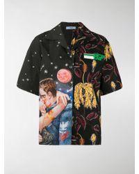 Prada - Mixed Cartoon Print Short Sleeve Shirt - Lyst