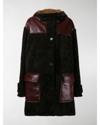 Marni - Contrast Pocket Shearling Coat - Lyst