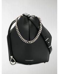 Alexander McQueen - Small Leather Bucket Bag - Lyst