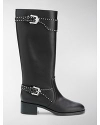Givenchy - Studded Riding Boots - Lyst