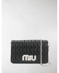 Miu Miu - Pleated Logo Shoulder Bag - Lyst