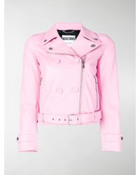 Moschino - Double Breasted Biker Jacket - Lyst