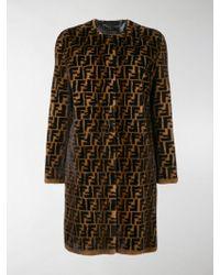 Fendi - Ff Fur Coat - Lyst